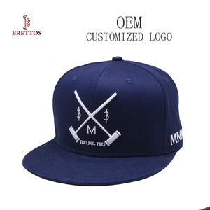 High Quality 100% Cotton Custom Embroidery Mens Snapback Hat