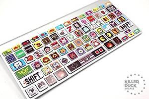 Macbook Keyboard Video Game Skin / Vinyl Decals