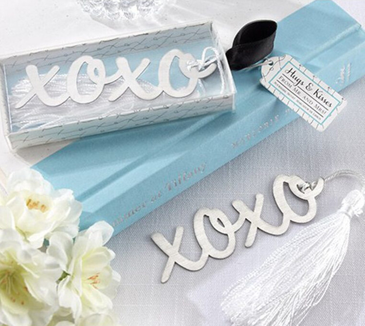cute XOXO style bookmark <strong>metal</strong>,bookmarks for book,special wedding gifts