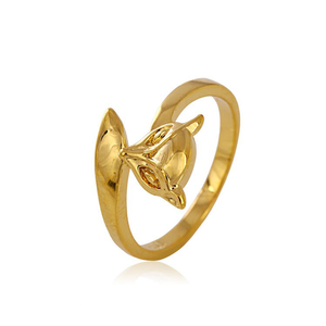 Xuping jewelry fashion rings for girl women 24k gold color gold charm rings fox style romantic gift wedding jewelry