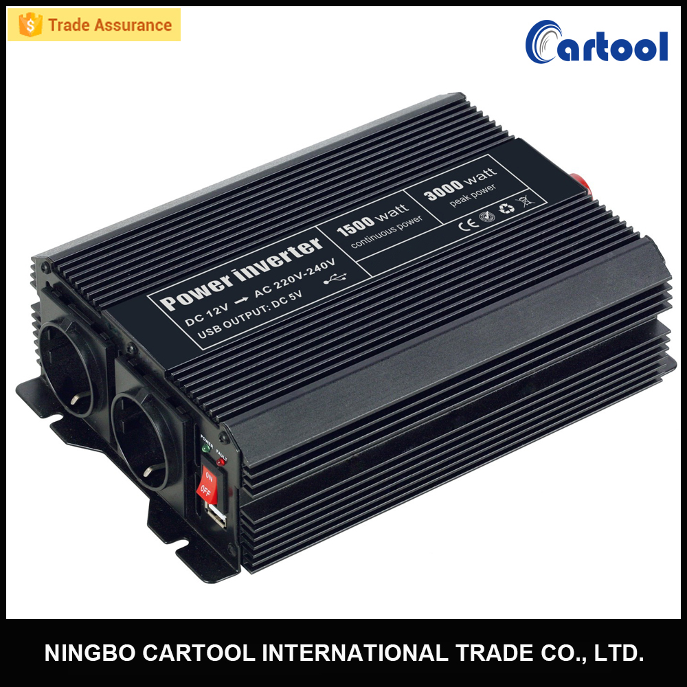 12v 220v pure sine wave 1500w inverter