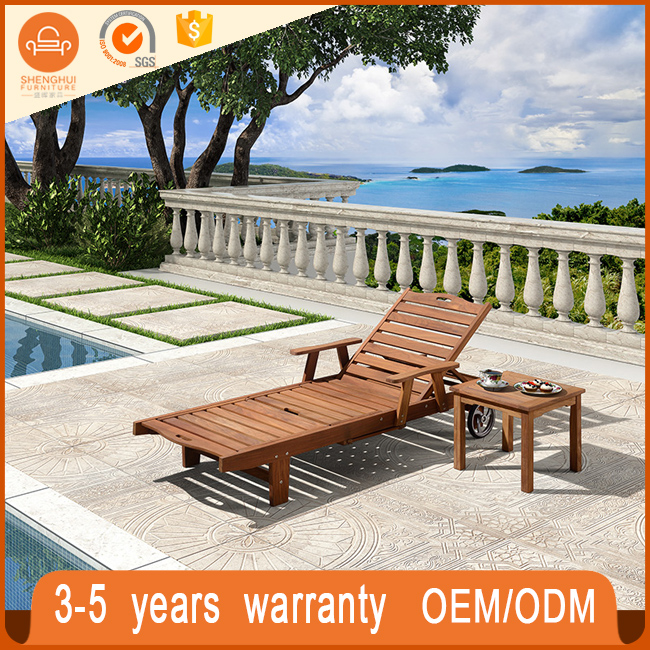 Easy Cleaning Outdoor Swimming Pool Double Chaise Lounge Chair Patio Portable Folding Chaise Lounge