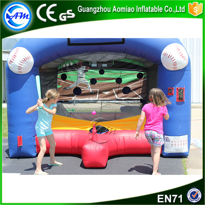 Fun interactive game toy baseball game nflatable football toss game for sale