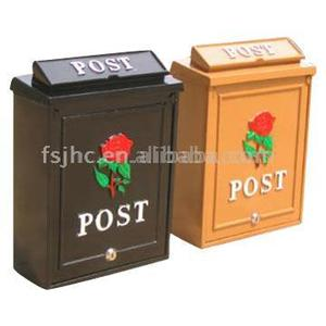 JHC-2034 Garden Cast Aluminum Free Standing Wall Mounted Mailboxes/Locking Letter box Door