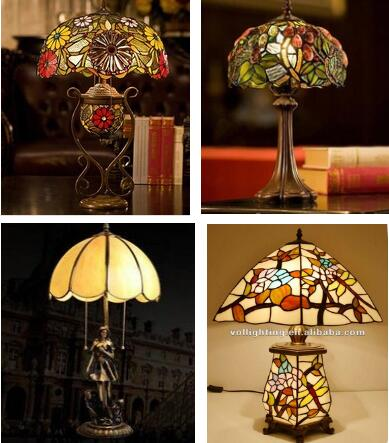 Designer lamp stained glass table light tiffany decorative lighting