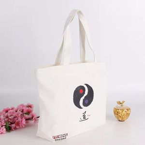 hot sell cheap reusable eco 100 % 8oz white cotton canvas carry shopping bag with logo