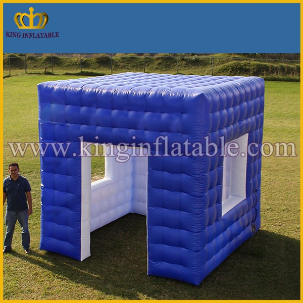 blue color portable inflatable spray booth mini inflatable cube tent booth buy inflatable cube. Black Bedroom Furniture Sets. Home Design Ideas