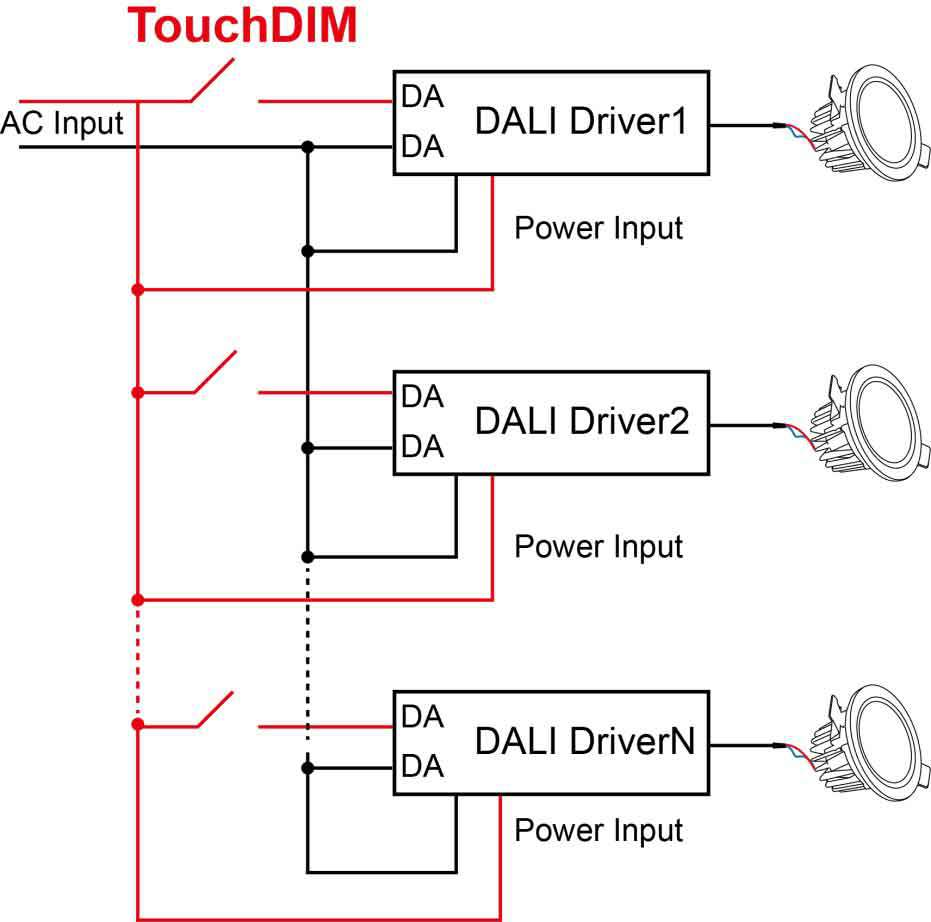 Touch Lamp Switch Wiring House Diagram Symbols 3 Way 700ma Dali Constant Current Dimmable Led Driver Buy 12v Hidden Light Control