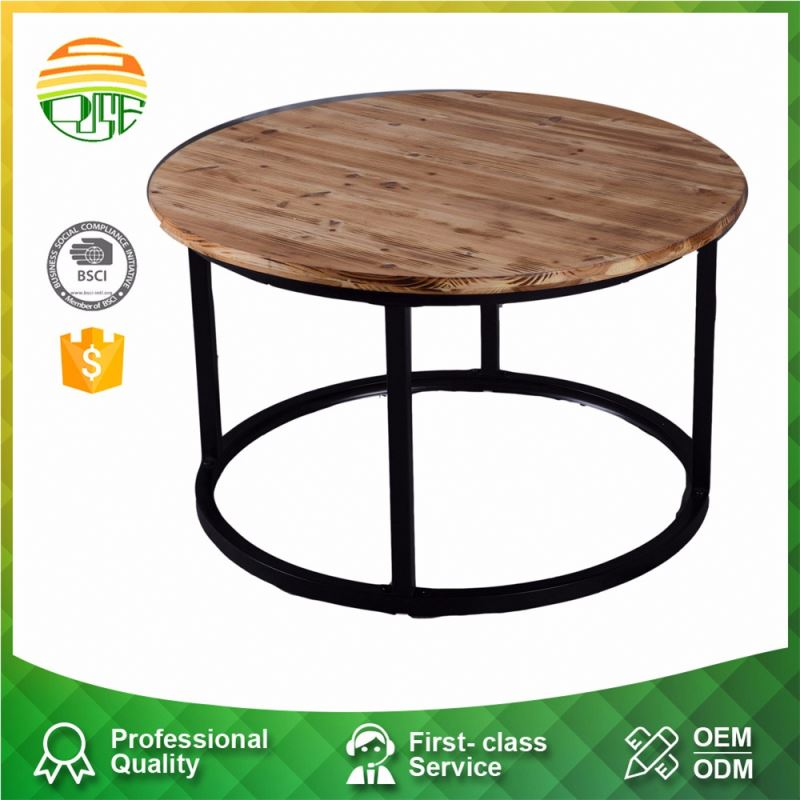 Custom Wood Round Top High Quality European Classical Coffee Table