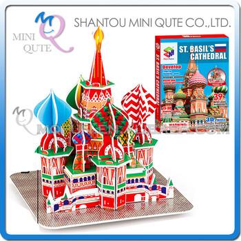 Mini Qute St. Basil's Cathedral Building Blocks World Architecture ...