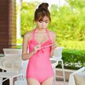 2016 New Style Swimwear One Piece Cute Design Bandage Swimsuit Push Up Dot Bathing Suit maillot