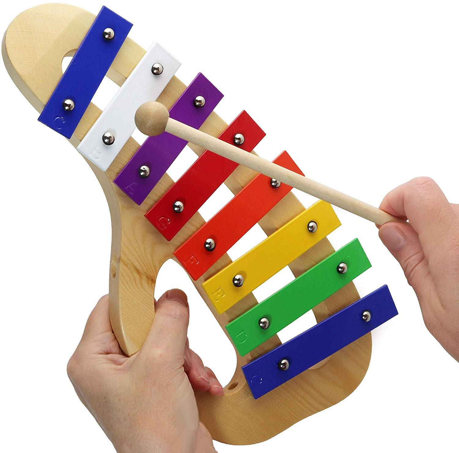 Xylophone for Children - 15 Color-Coded Song Sheet Music E-book for this Children Glockenspiel