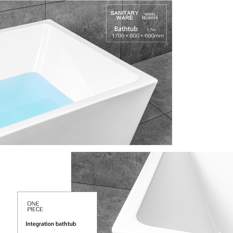 Square Royal Outdoor Bathtub Clear factory Bathtub