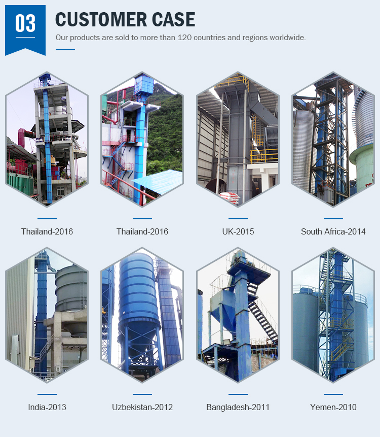 2019 Unique design TH round chain type silo bucket elevator applied to flour mill