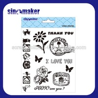 decoration supplies rubber simple clear stamp