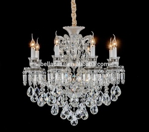 Luxury Classic Empire Purse Lamp Light Lustres Living Room Silver Chandelier