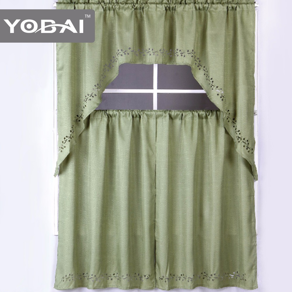 American Designs European Sheer Plain Kitchen Curtains
