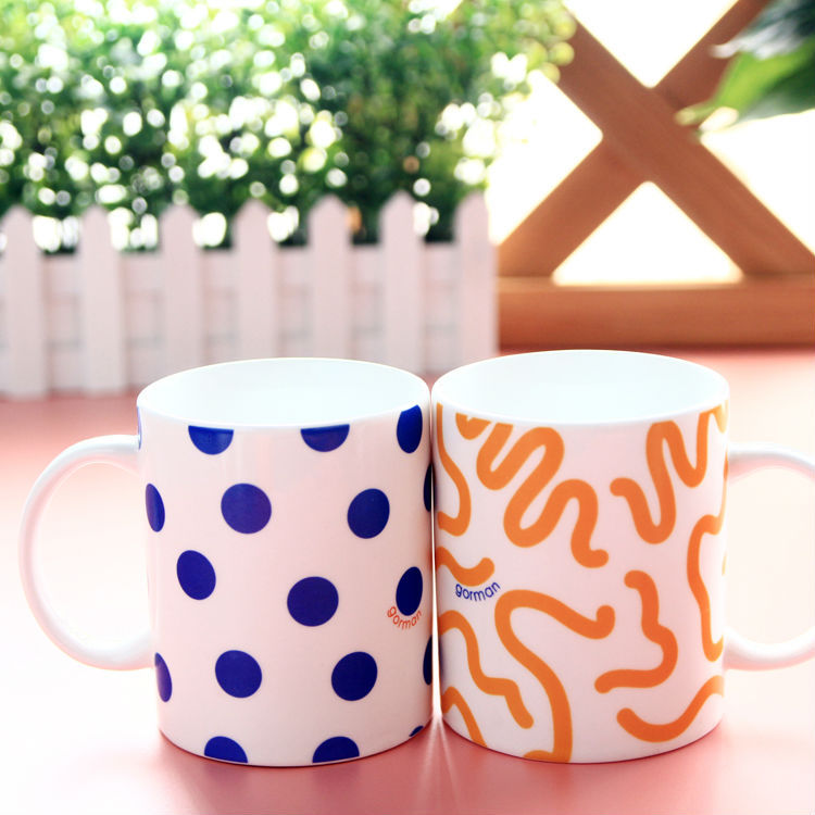 Pengcheng made outside color decal ceramic mug for clinic