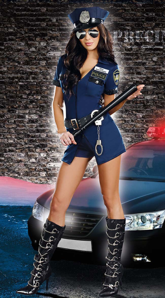 AWC-169 YIWU caddy Sexy Cop Costume Policewoman Officer Outfit Cosplay costume