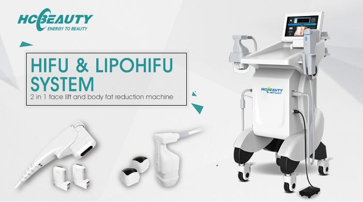 2 in 1 Hifu System Abnehmen Gesicht Verjüngung Gerät Hifu Preis