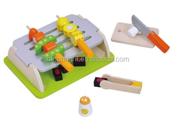 Houten smal fornuis speelgoed/24 stuks houten speelgoed keuken set ...