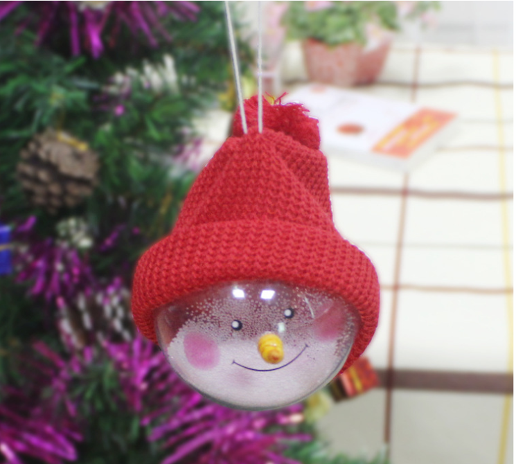 2018 hot sale cute christmas ball with Hair