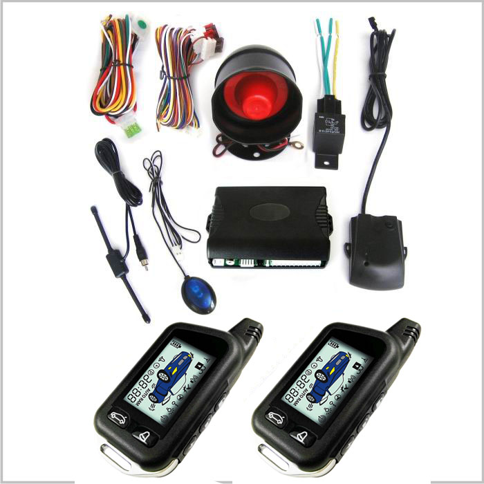 LIXING Original LCD Screen Display Car 12v Keyless Entry Manual Car Alarm System Made in Guangzhou