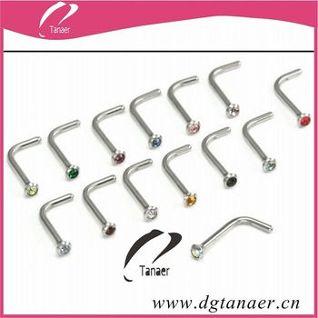 How To Bend L Shaped Nose Rings