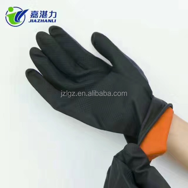 Gloves Factory Wholesale Industrial Gloves Latex Black For Working