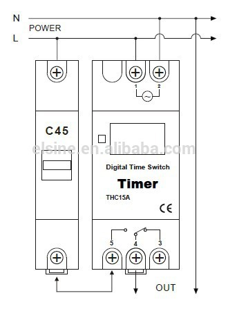Digital timer switch for street lighting control  AHC15A
