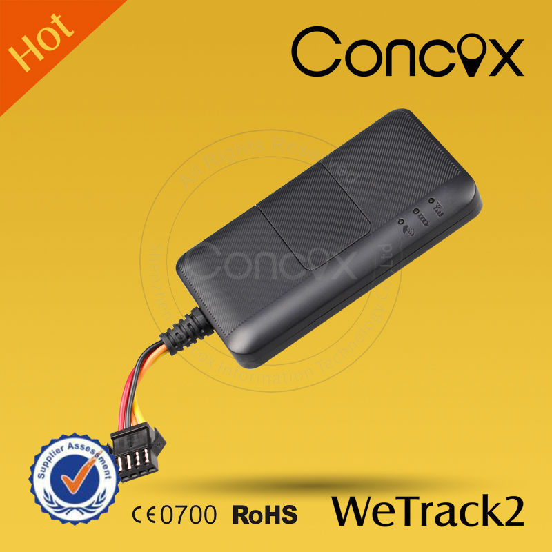 Concox Easily Installation WeTrack2 Small GPS GSM Car/Motor/Electric-bike Tracker 9-90v low price gps module