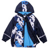 Boy's raincoat children's PU leather waterproof windproof breathable door plus velvet storm coat raincoat poncho