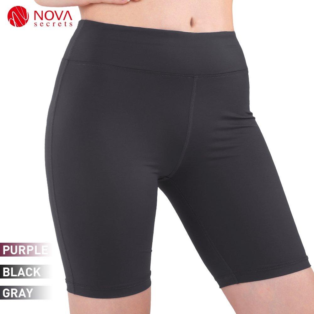 9148f482d4d3b2 Get Quotations · Nova Secret Women's Yoga Workout Short Pants Capri  Leggings for Gym Clothes Juniors Cropped Skirted Leggings