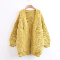 Cardigan without buttons women sweater coat long design
