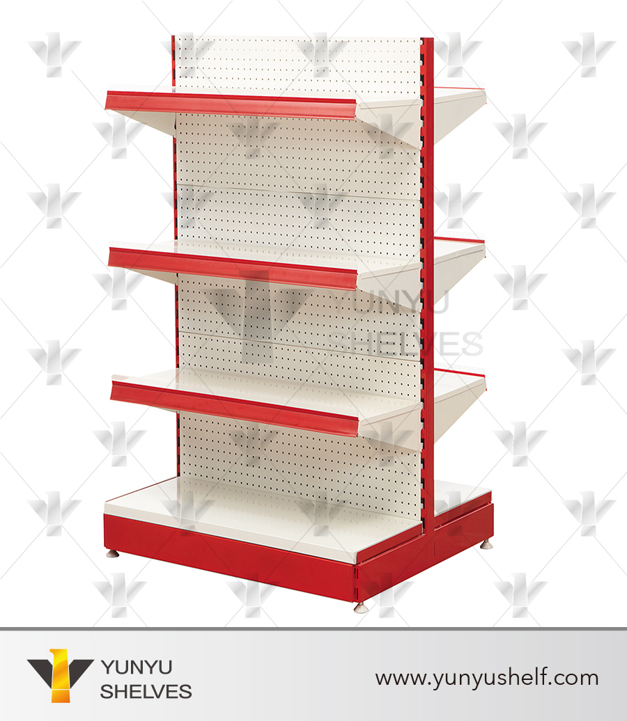 Popular Metal Double Sided Convenience Store Shelf Grocery Store ...