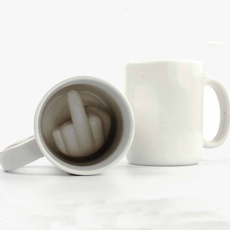 P195 Up Yours Coffee Mug 350ml Funny Middle Finger Cups And Ceramic Mugs For Coffee Tea Milk