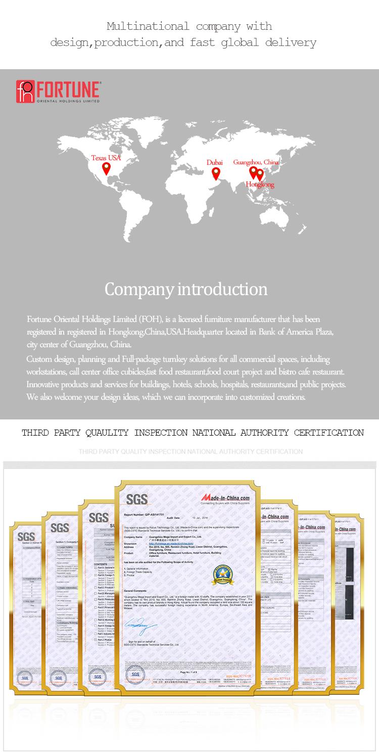 लक्जरी बड़े लकड़ी लिबास कार्यकारी डेस्क (FOHS-A36138)