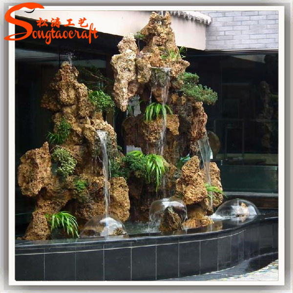 Factory Garden Indoor Mini Decorative FRP Water Fountain With Pumps