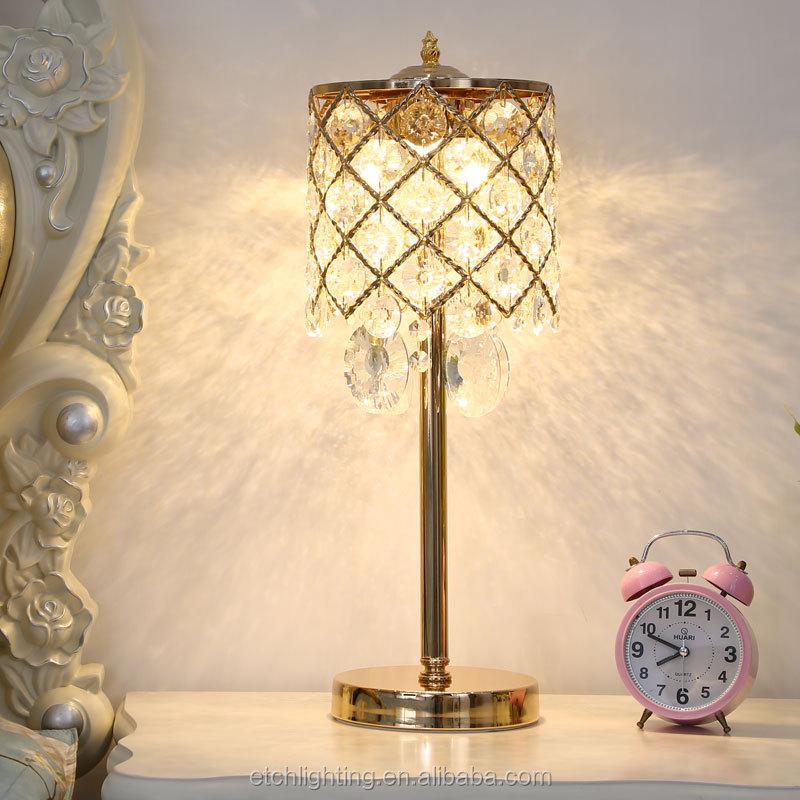 Lámpara Dorada K9 Lámpara Escritorio Prisma Casa De Mesa Cuentas Mesa Plata Lámpara De Hotel Lámpara De Cristal Luz De Para De Led De Buy Led De CxderBo