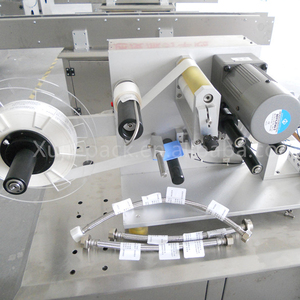 manual al-40c usb and Ear wires folded labeling machine
