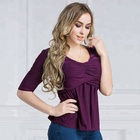 2012# Indian girl latest cotton lady blouse & tops designs sexy tunic for women office clothing
