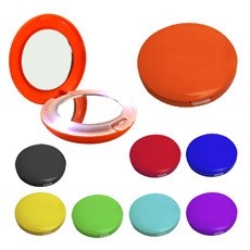 Wholesale classica design favorable price travel convenient daily make up round shaped transparent colorful plastic 2 way mirror
