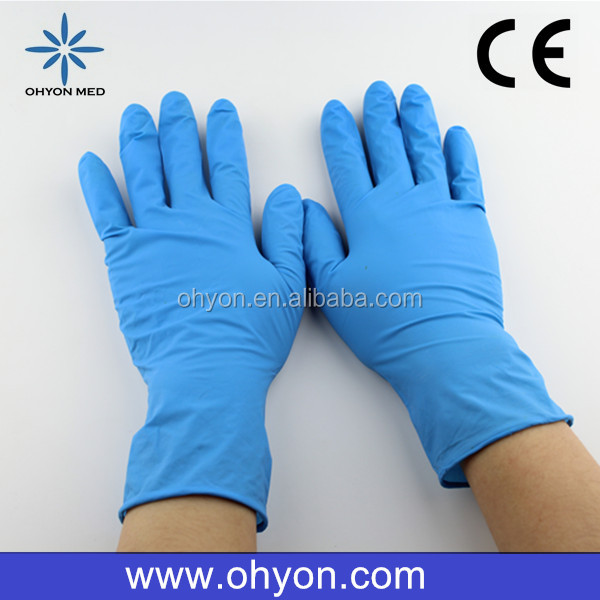 2016 Medical disposable best supplies nike football gloves cheap latex gloves manufacturer