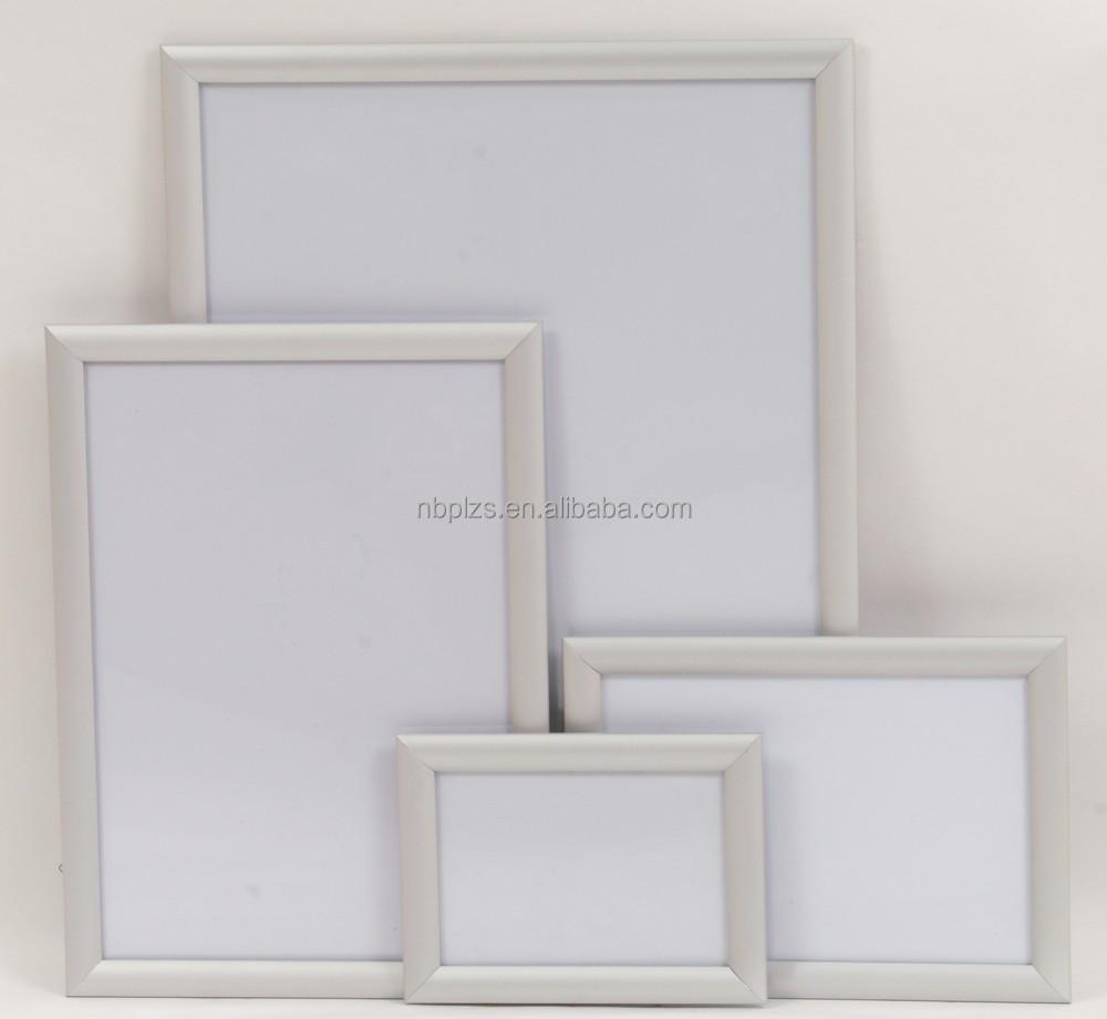 Fácil de cambiar con mitra plata Esquina de aluminio marcos cartel ...