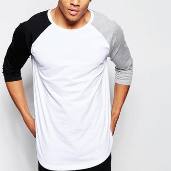 High Quality Wholesale White Bulk Blank Raglan 3/4 Sleeve T Shirts ...