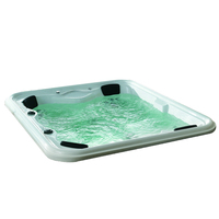 SMBR-093 European style 6 person double air waterfall jet acrylic family bath hot spa bathtub outdoor massage whirlpool tub