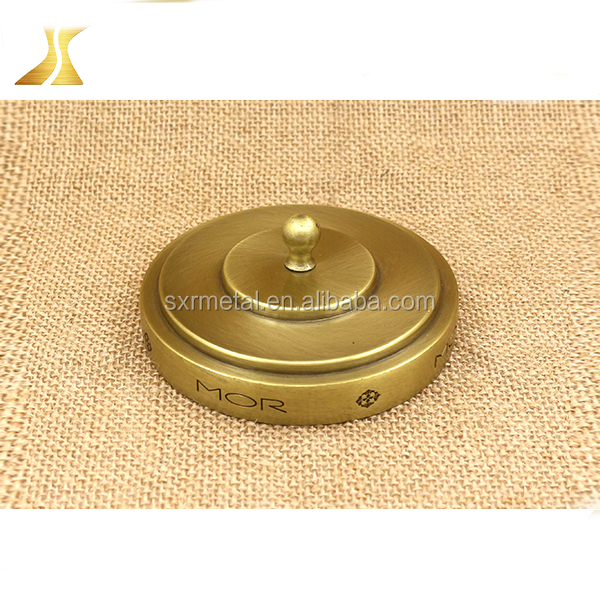 Best design metal candle lid with customized logo, gold candle lid for candle jar