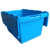 With Dolly Easy Moving Stackable Plastic Storage Box With Lock