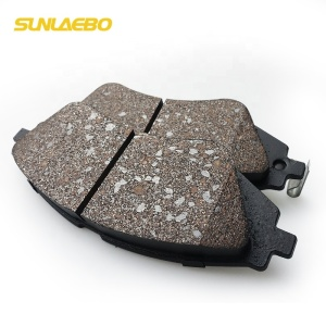 Top quality car brake pad ceramic semi-metallic autozone front auto brake pads