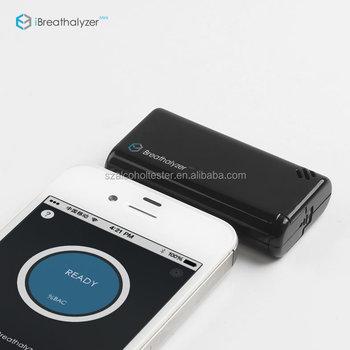 White Black Drive Safety Digital Alcohol Tester Breath Breathalyzer For Iphone Breathalyzer Mini Alcohol Tester
